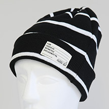TS KNIT CAP BLACK×WHITE