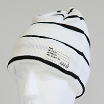 TS KNIT CAP WHITE×BLACK