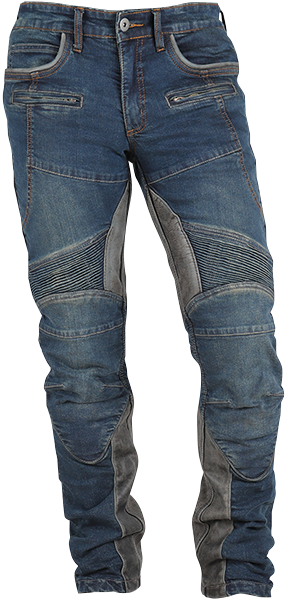 DP-27V GENUINE LEATHER HEATGUARDED DENIM PANTS