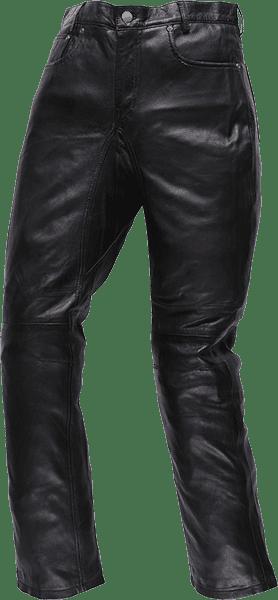 SLP01 TAPERD LEATHER PANTS