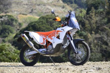 KTMの450ラリー・レプリカの7:3イメージカット