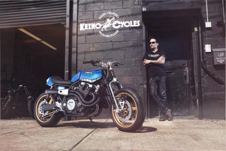 Yard Built XJR1300 'Rhapsody in Blue' by Keino