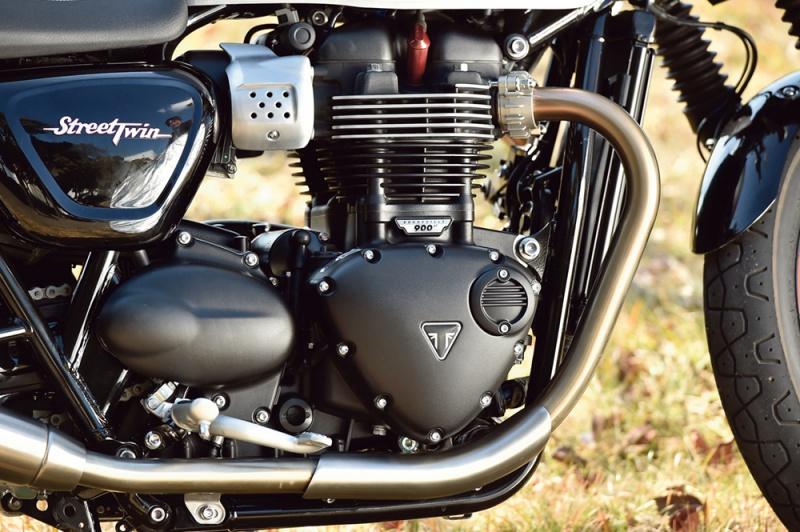 トライアンフのストリートツインのバーチカルツインエンジン