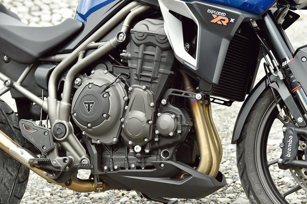 トライアンフのタイガーエクスプローラーxrx-low のエンジン