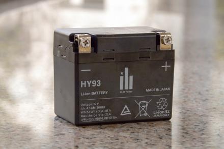 ホンダ・CBR1000RRのリチウムバッテリー
