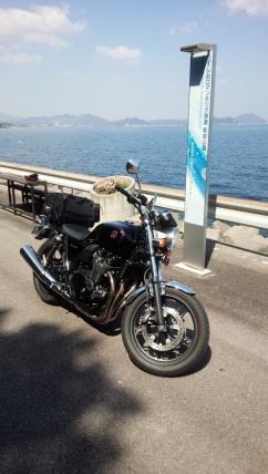 美しいバイクと美しい景色