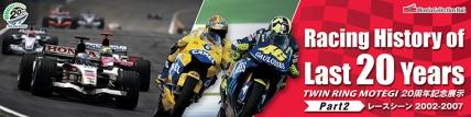 ツインリンクもてぎ20周年記念展示 Racing History of Last 20 Years 【Part2】レースシーン2002-2007
