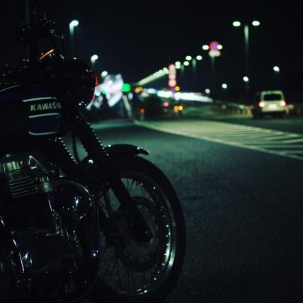 嬉しくて夜走り。