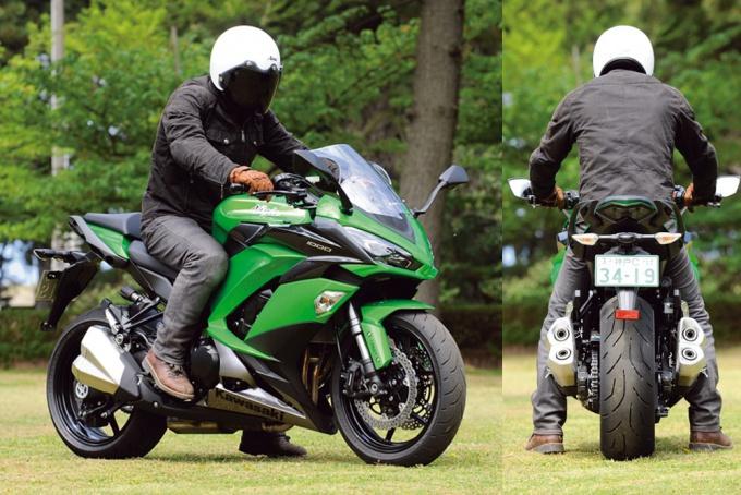 カワサキ・Ninja1000ABSの足つき状況。試乗インプレッションライダーは172cmの谷田貝 洋暁