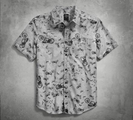 HARLEY-DAVIDSON Allover Bike Print Shirt