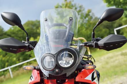 ホンダのCRF250ラリーのヘッドライト&スクリーン