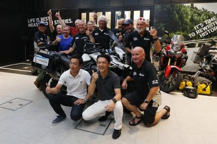 【イベントレポート】トライアンフ東京が2万5,000kmの旅の終着点に