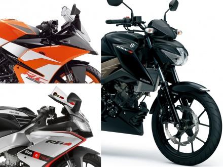 GSX-S125 ABSと本格派 原付2種スポーツモデルのRC125、RS4 125の3台をスペックで比較!