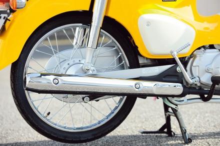 ホンダのスーパーカブ50のサイレンサー