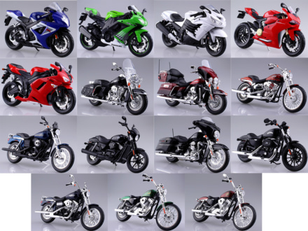 SKYNETから1/12完成品バイクシリーズに計15台が一挙に新登場