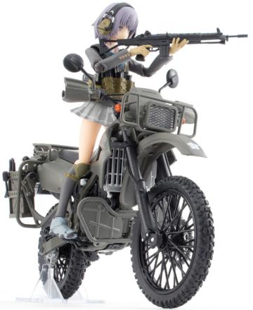 TOMYTECより、KLX250ベースの1/12スケール 陸上自衛隊偵察オートバイ DX版が登場