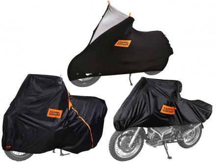 ドッペルギャンガーより屋外・室内・出先と、シーンに合わせて活用できるバイクカバー3製品が登場