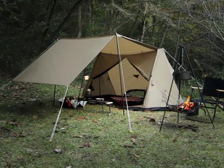 スタイルを重視するキャンプ好きライダーにオススメ!ドッペルギャンガーの『パップフーテント』
