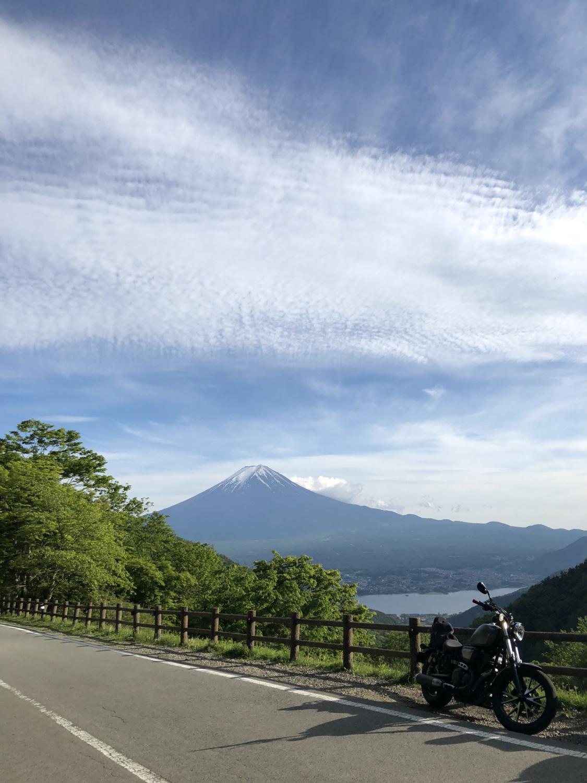 御坂峠にて