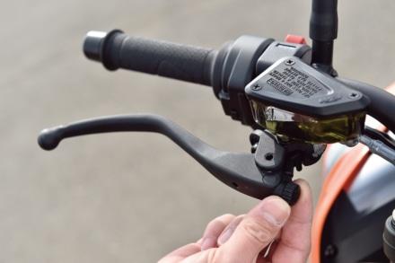 KTMの790デュークのブレーキレバー