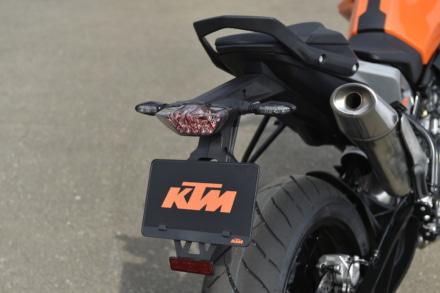 KTMの790デュークのリヤテールまわり