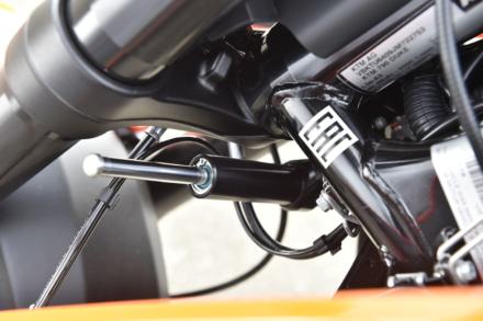 KTMの790デュークのステアリングダンパー