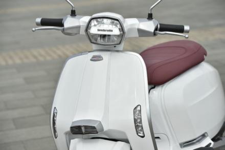 ランブレッタのV125スペシャルのフロントまわりのデザイン
