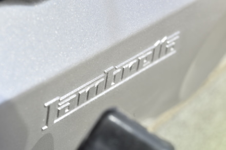 ランブレッタのV125スペシャルの「LAMBRETTA」ロゴ
