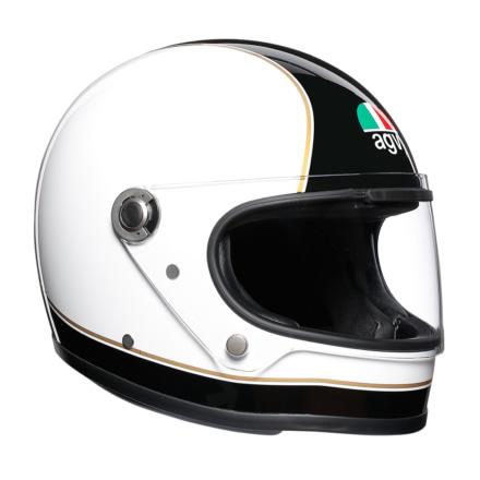 AGVから最初期のフルフェイスを再現したレトロなヘルメットが登場