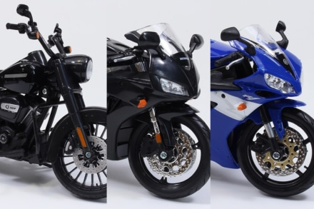 SKYNETから『1/12 完成品バイク ロードキングスペシャル/CBR1000RR/YZF-R1』が9月下旬に登場