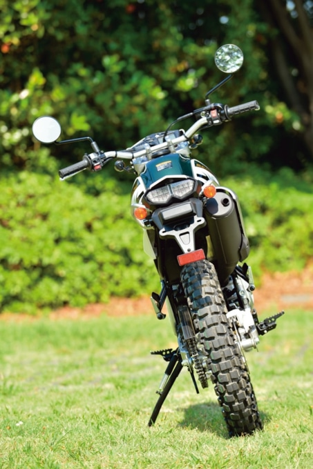 ヤマハの新型セロー250のバックイメージ