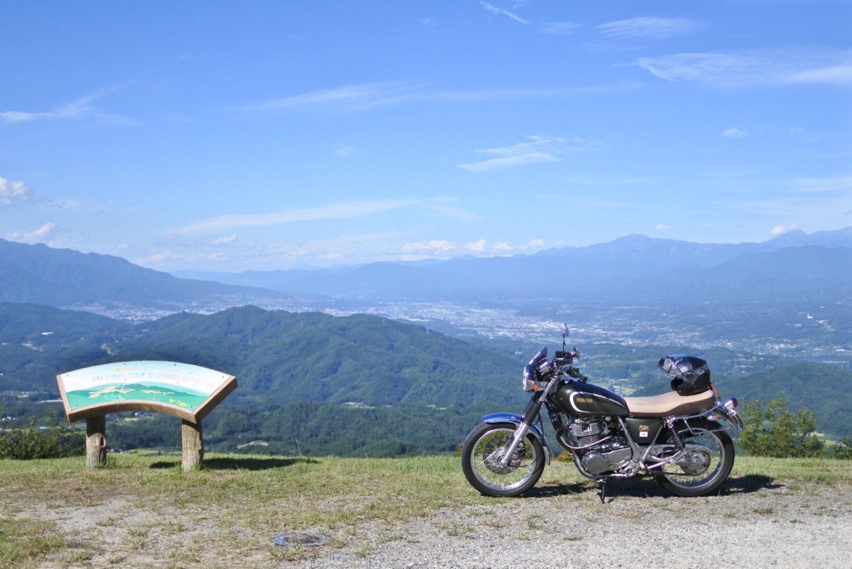 極楽峠から伊那谷を眺めて
