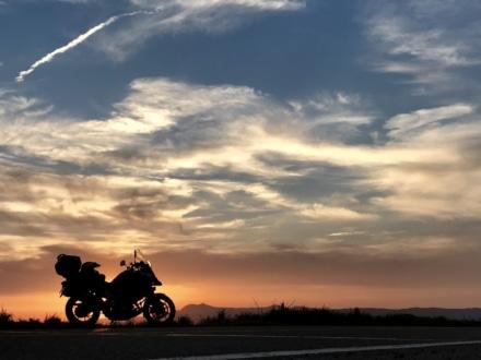 阿蘇カルデラの夕陽