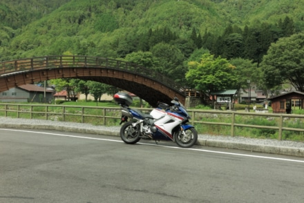 木曽の大橋と相棒
