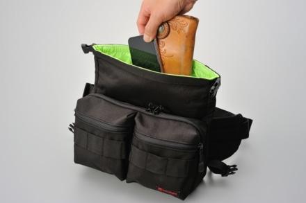 デイトナから気軽に使えて荷物をしっかり守る『防水ウエストバッグ』が登場