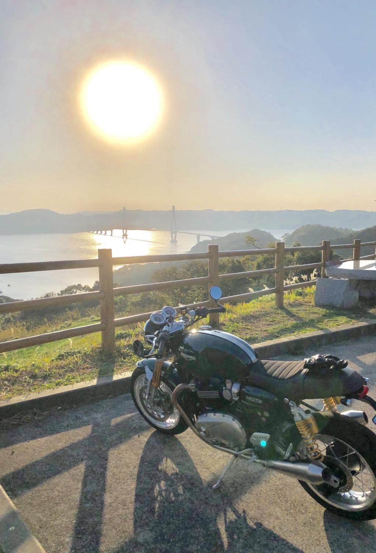 鷹島大橋と夕日