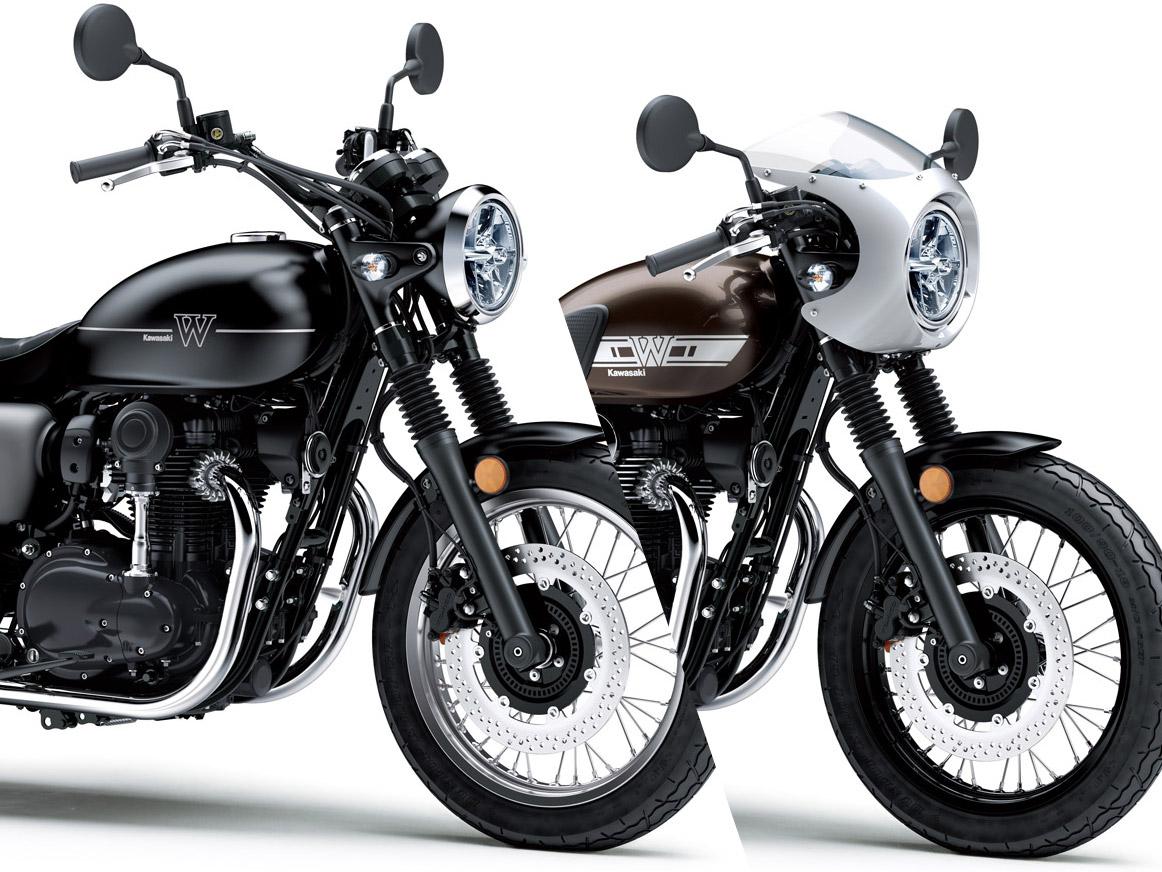 KAWASAKI W800が復活!STREETとCAFÉの2本立てで、2019年春には国内販売も