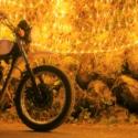 イルミネーションとおバイク