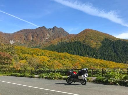 紅葉の大山を駆ける
