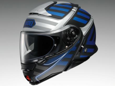 SHOEIのシステムヘルメット・NEOTECⅡにスポーティな印象の新グラフィック・SPLICERが登場!