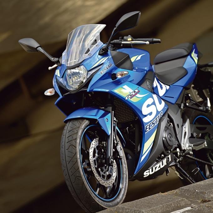SUZUKIのGSX250Rは新色にMotoGPイメージのカラーリングを採用