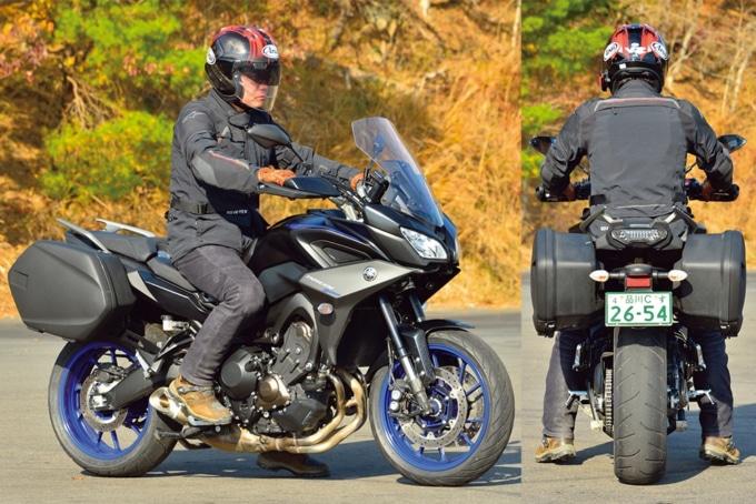 YAMAHA TRACER900 ABSの足つき&乗車ポジション