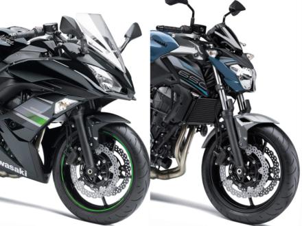カラーリングを見直した2019年モデルのKAWASAKI Ninja650&Z650が、2019年2月1日より販売を開始