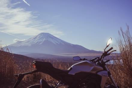 富士山とCB-R