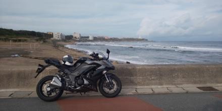 銚子の海岸沿いで1枚!