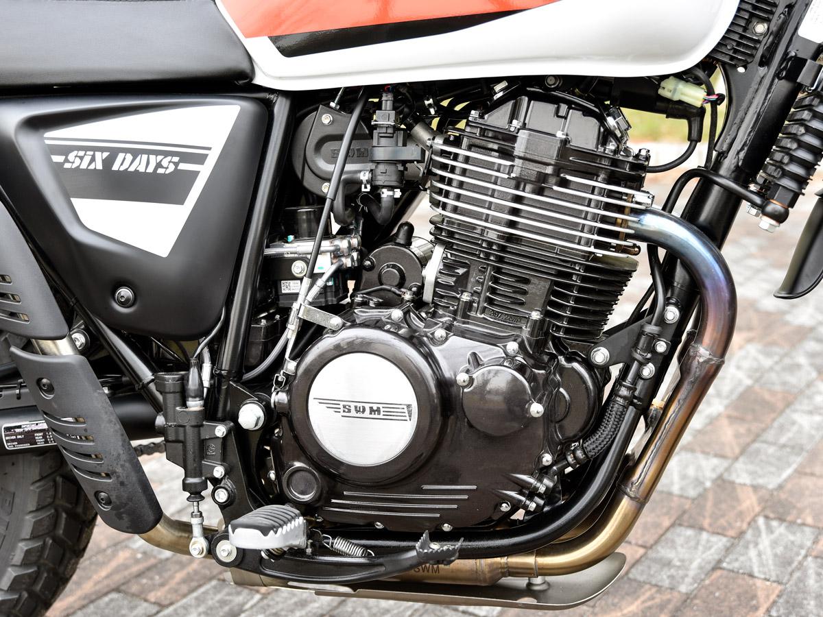 SWM シックスデイズ400 エンジン