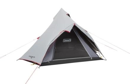 コールマンから日光を90%ブロックして涼しいティピー型テントのスタートパッケージが登場