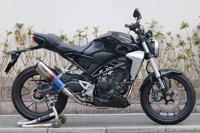 WR'S CB250R SS-OVALフルエキゾースト装着全体イメージ