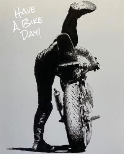 加藤ノブキ バイクのある日常テーマのイラスト
