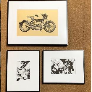 加藤ノブキの個展「HAVE A BIKE DAY.」展示の様子